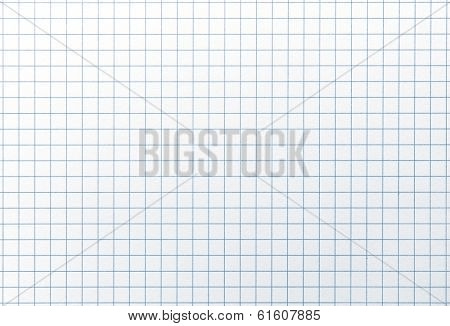 Blue line graph grid paper with highlight. Shot square to image dimension