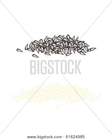 Stack Of Sesame On A White Background