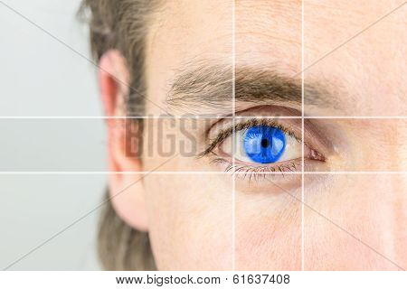 Young Man With A Vivid Blue Eye