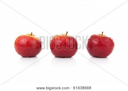 Red Apples Closeup