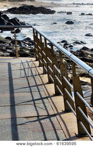 Balustrade over the beach