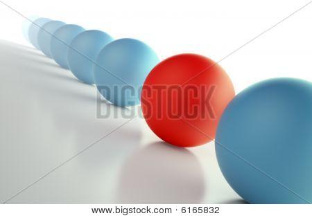 unique red sphere