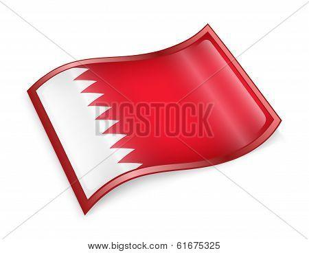 Bahraini Flag Icon.