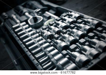 Chrome Vanadium Wrench Set, Tool, Detail