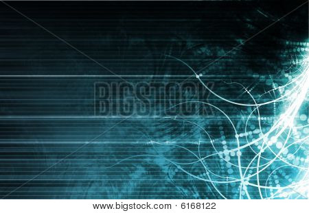 Presentation Background for Technology as a Art poster
