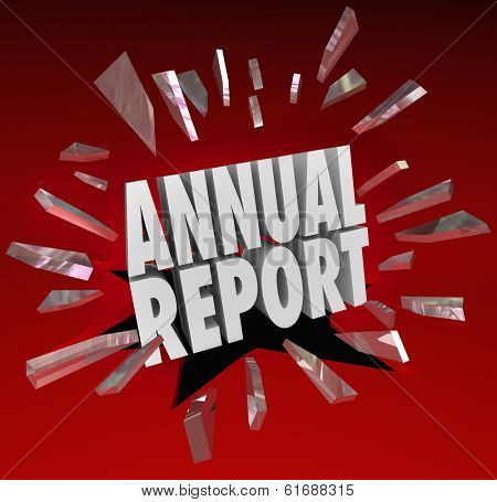 Annual Report Words Surprising Shocking Business Growth Increase