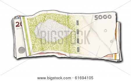 Hand Drawn And Isolated Money