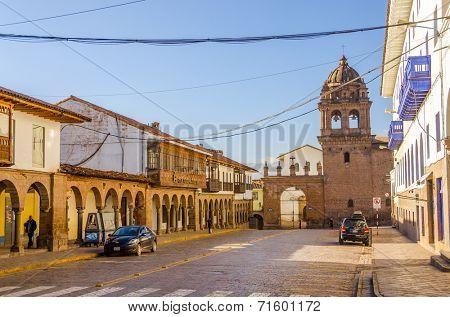 CUZCO, PERU, MAY 1, 2014: Basilica Menor de la Merced