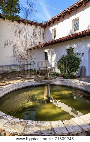 Mission San Luis Obispo De Tolosa Courtyard Fountain California