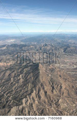 Baetic Cordillera (or Baetic Mountains) in Spain. Sierra del Cid range with prominent El Cid peak in the foreground. Alicante Province. poster