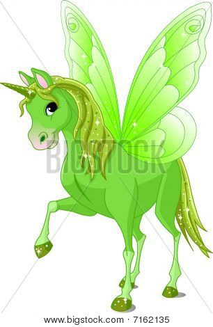 Green Cute winged horse of Fairy Tail poster