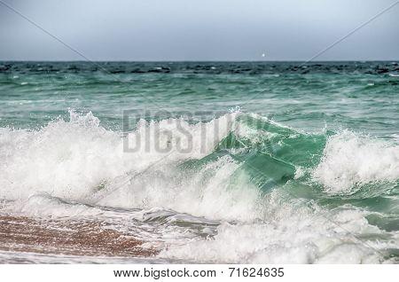 Atlantic Ocean At Cape Hatteras North Carolina