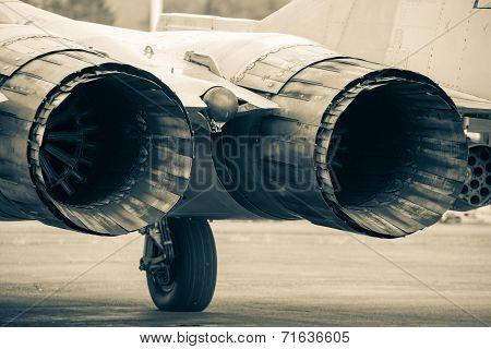 Airplane Mig-29 At Airshow