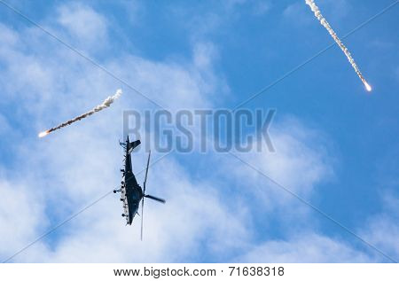 Helicopter A109 At Airshow