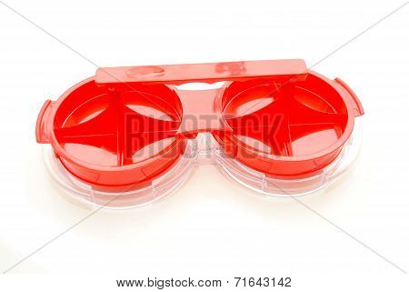 Red Hamburger Press Isolated On White