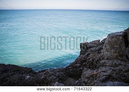 vacation, mediterranean scene, peniscola city located in spain