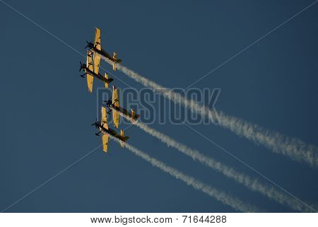 An air show formation