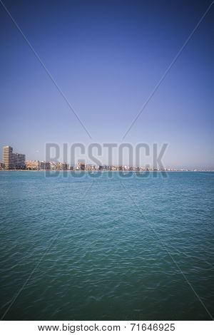 travel, mediterranean scene, peniscola city located in spain