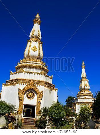 Phra Maha Chedi Chai Mongkol Temple in Roi Et poster