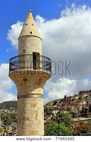 Old Minaret In Safed, Israel
