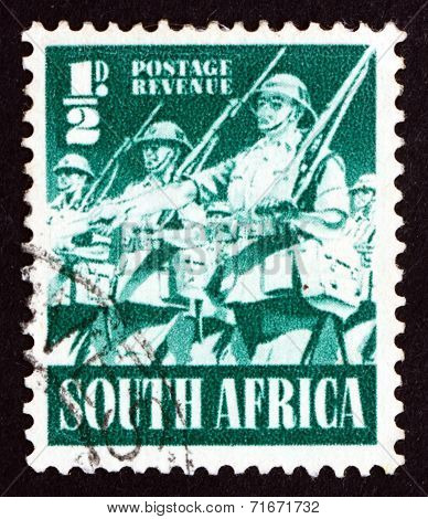 Postage Stamp South Africa 1941 Infantry