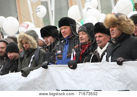 Ryzhkov, Aleksashenko, Kasparov on the March for fair elections