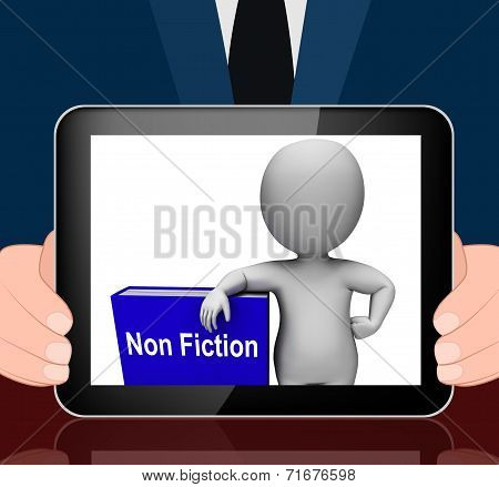 Non Fiction Book And Character Displays Educational Text Or Facts