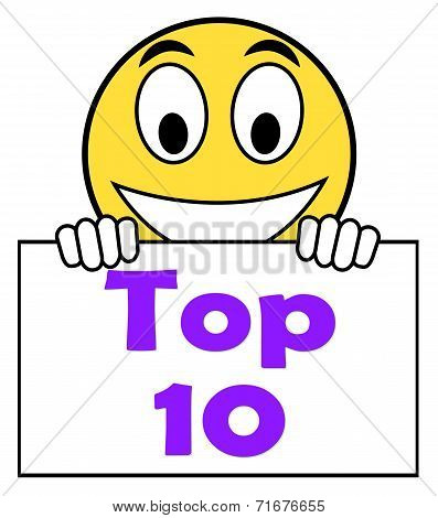 Top Ten On Sign Shows Best Ranking Or Rating