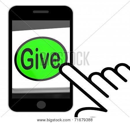 Give Button Displays Bestowed Allot Or Grant