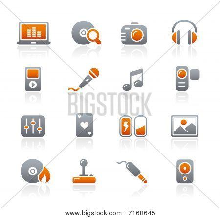 Media & Entertainment // Graphite Icons Series