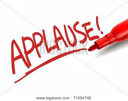 The Word Applause With A Red Marker