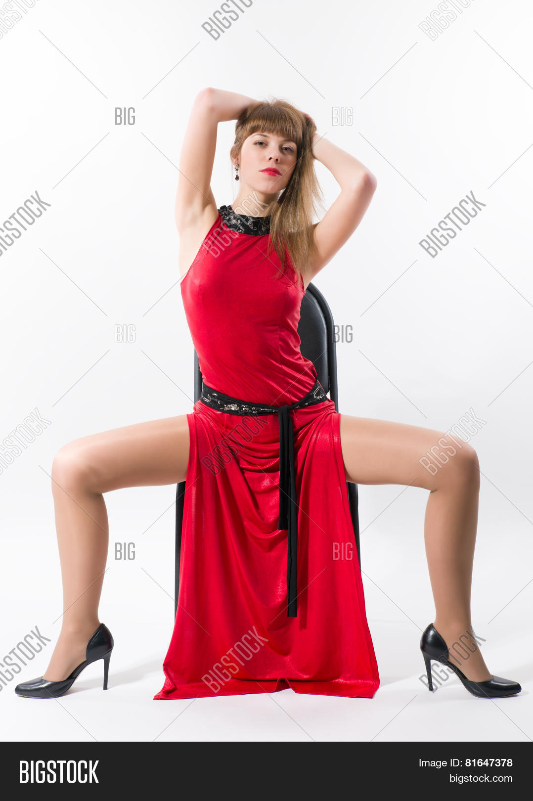Girl With Legs Wide Open