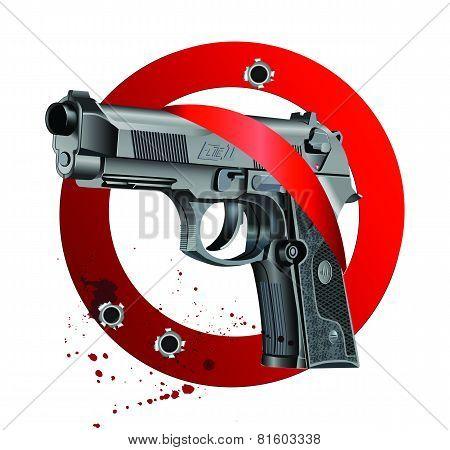 Handgun Beretta Elite Bloody Stop