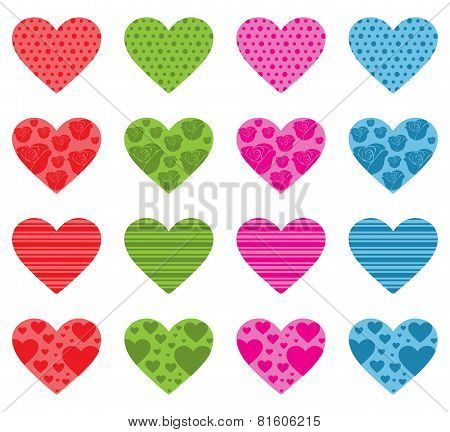 Pattern Filled Hearts