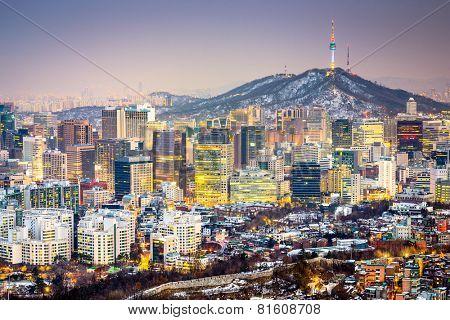Seoul, South Korea city skyline.