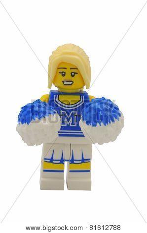Cheerleader Lego Minifigure