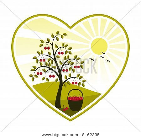 Cherry Tree In Heart