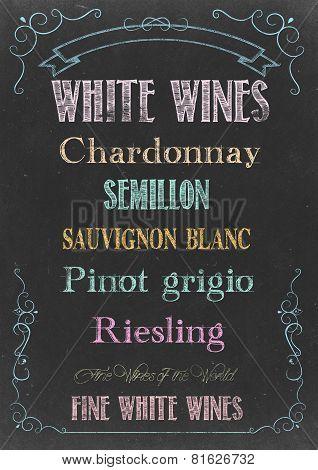 White Wines  Menu