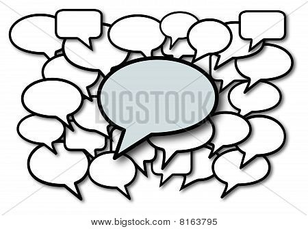 Talk in speech bubbles social media