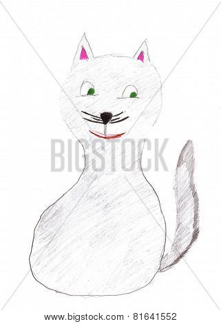 Childrens Drawing Cat
