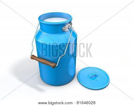 Milk churn isolated on white background