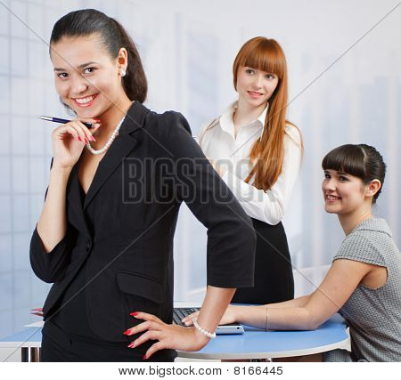 Manager With Her Employers
