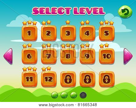 Level selection screen