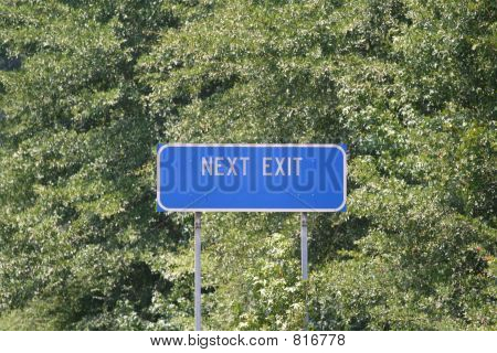 Next Exit Sign