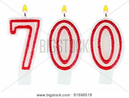 Candles Number Seven Hundred