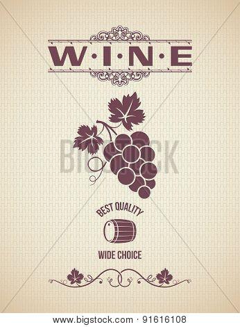 wine grapes design vintage background