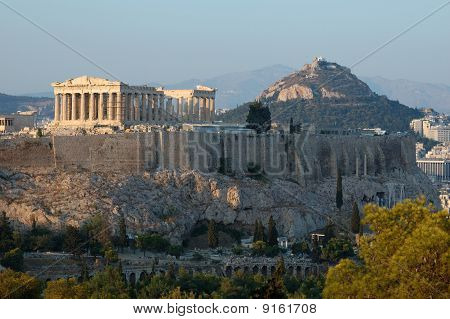 Acropolis famous ancient landmark in Athens,Greece Balkans