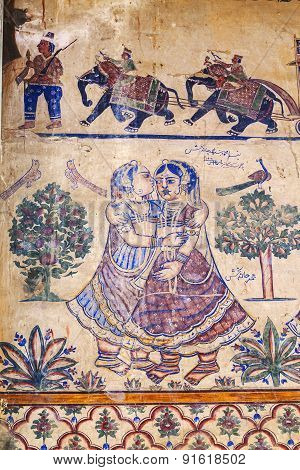 Frescoed Havelis In Bikaner