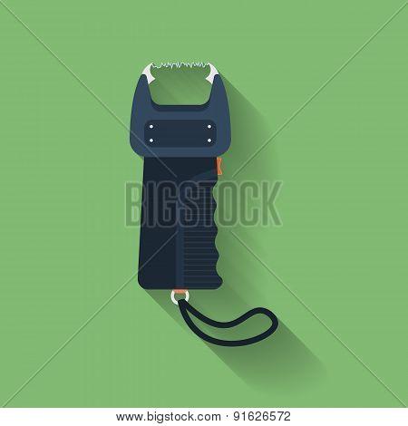 Icon Of Electric Shocker, Electric Strike, Electric Stunning Device, Electrical Shock Apparatus, Stu