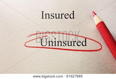 Uninsured Red Circle